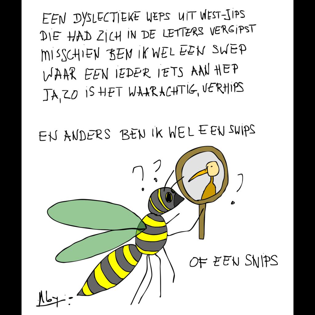 rijm over een weps